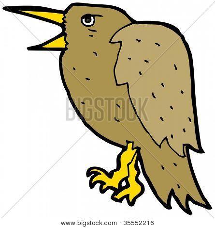 squawking bird cartoon