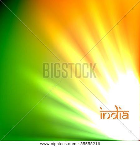 beautiful indian flag tri color design art
