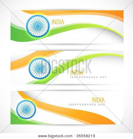 creative indian flag headers design