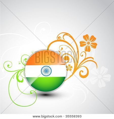 stylish tri color indian vector background