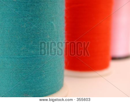 Blue, Red,  Pink Thread