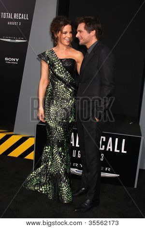LOS ANGELES - AUG 1:  Kate Beckinsale, Len Wiseman arrives at the