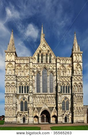 Salisbury Cathedral Front Facade