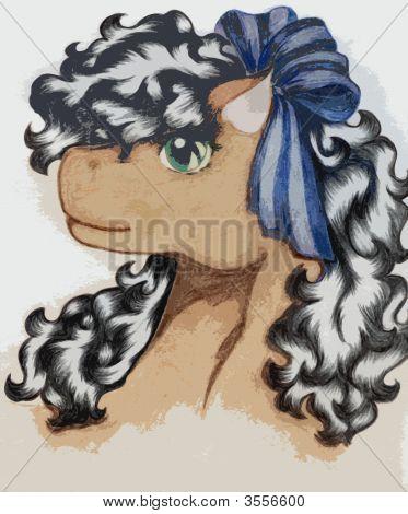 Portrait der Farbe Pferd