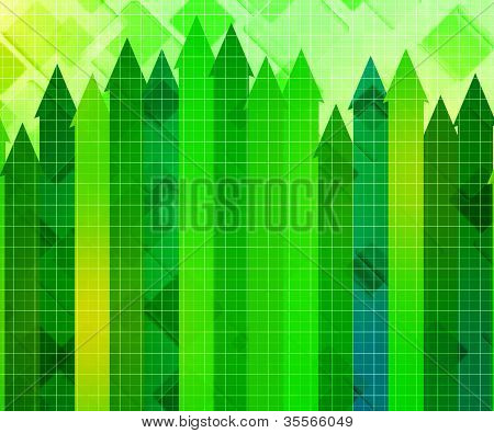 Growth Business Chart Background