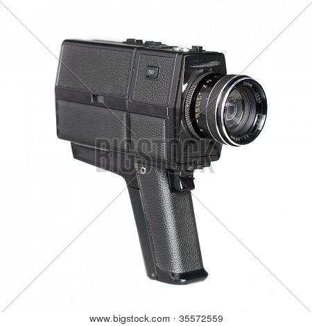 Close Up da câmera lente sobre um fundo branco