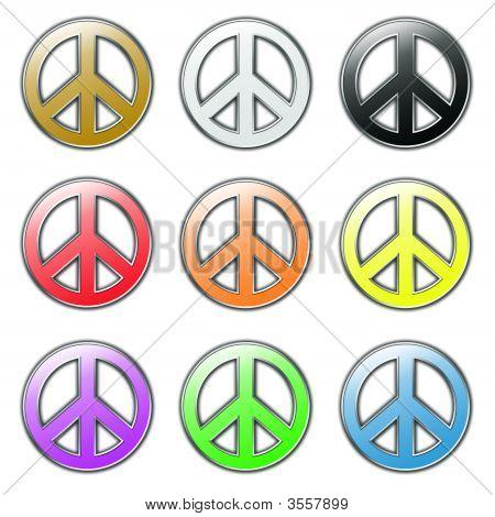 Colored Peace Symbols