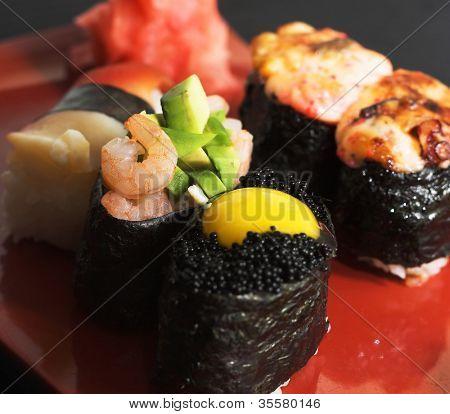 Assortment of Japanese Sushi