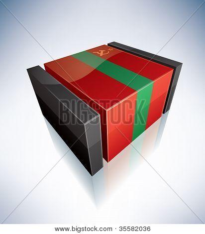 3D Flag Of Transnistria