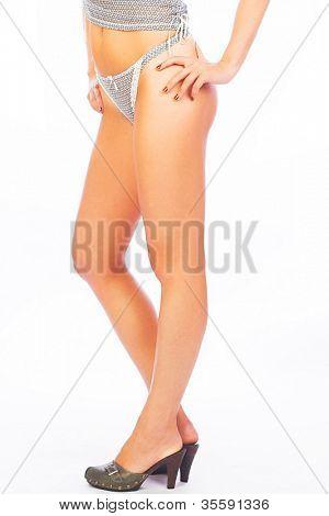 long legs on high heels