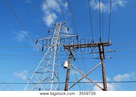 Multiple Power Poles