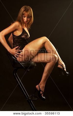 erotic female in provocative lingerie