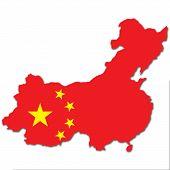 Постер, плакат: Китай карта