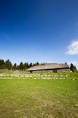 picture of longhouse  - A viking long house on a historic farm - JPG