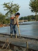 Laborer Working With A Hoe