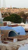 pic of nubian  - Nubian village mud brick buildings Aswan Egypt Africa - JPG