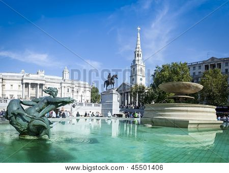 Trafalgar Square London Summer Day