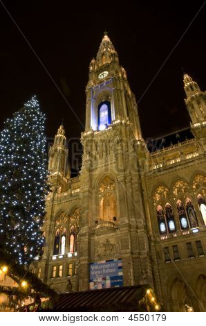 Vienna City Hall At Christmas