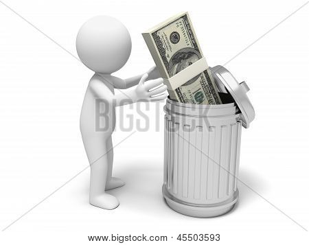 Dollars and dustbin