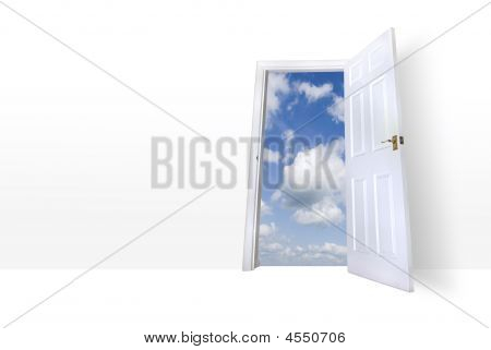 Door Leading To Summers Sky