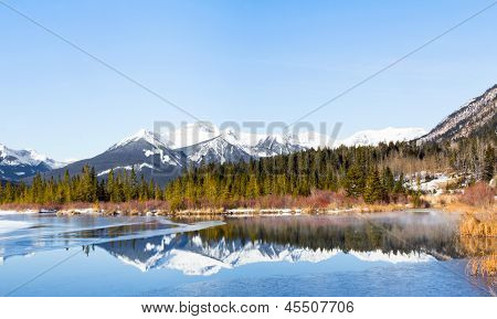 Lake Vermilion And Sundance Mountains