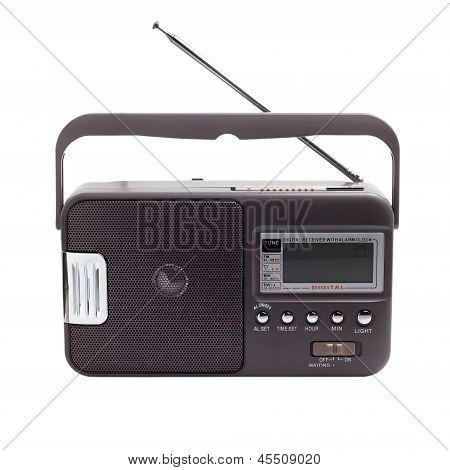 gray radio isolated on white background