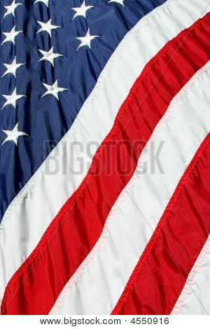 American Flag Close-up