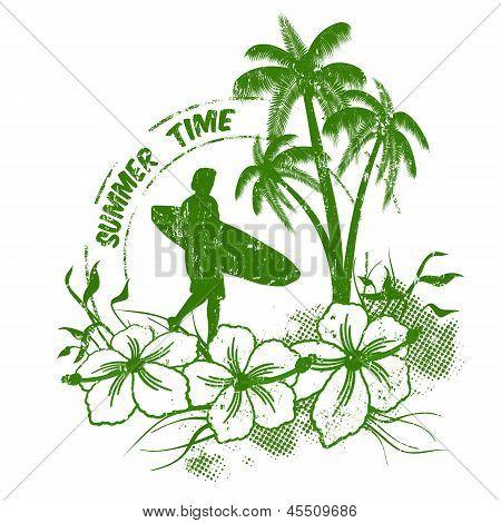 Summer Time Stamp