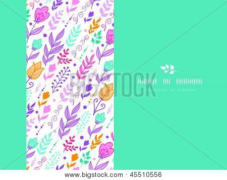 Tulip field flowers horizontal template seamless background