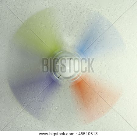 Colored Ceiling Fan in Motion