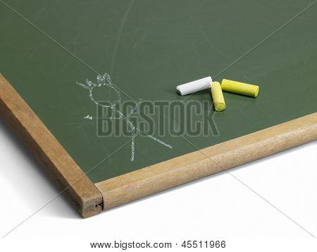 Blackboard And Stick Man