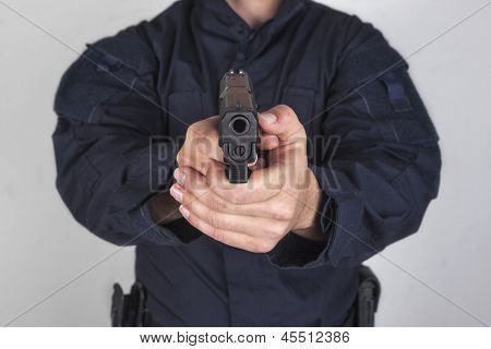 Policeman With Gun