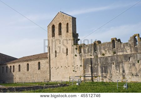 Church of SS. Trinity. Venosa. Basilicata. Italy.