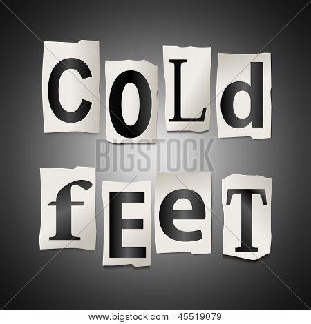 Concepto de pies fríos.