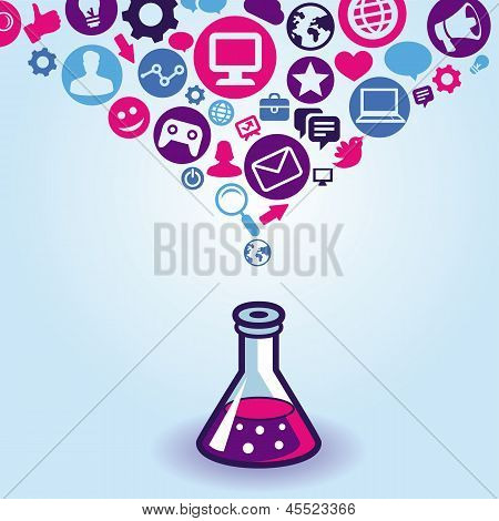 Vector Internet Marketing Concept