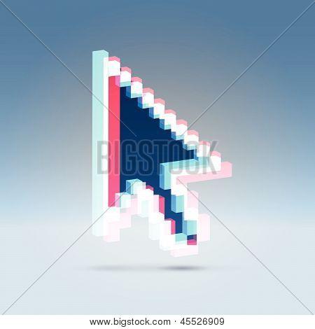 3D Stereo-Effekt-Pfeil-Symbol