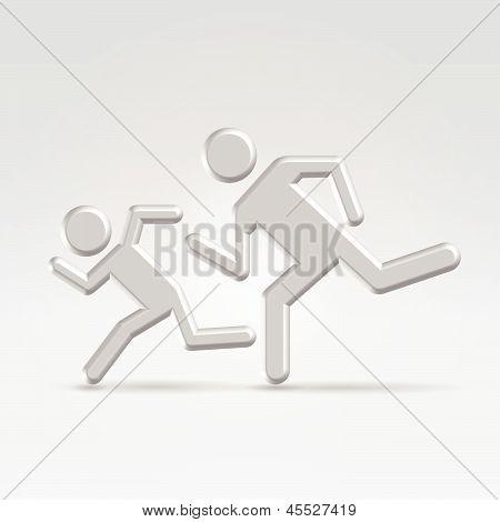 Running Children Icon