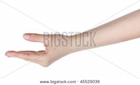 Female Teen Hand To Hold Something