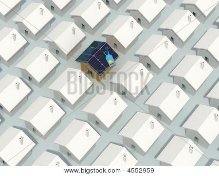 Única casa fotovoltaica