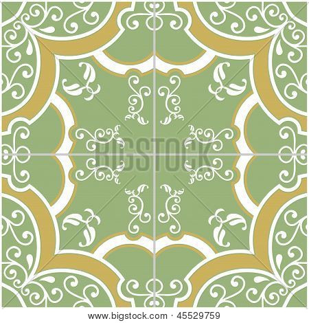Green And Yellow Tile