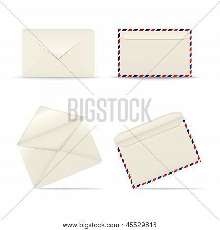 Envelopes icon on white background