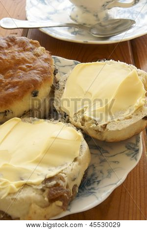 Buttered Fruit Scones