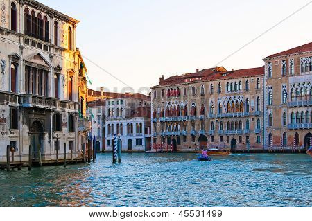 The Grand Canal Of Venice At Sunset
