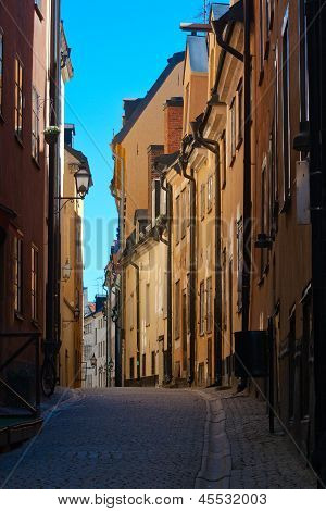 Street Of Old Town. Stockholm