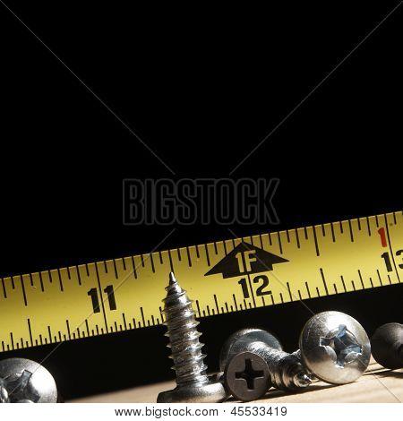 Tools, Wood Screws and Tape Measure