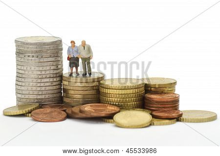 Seniors With Euro Coins