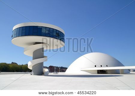 View of Niemeyer Center building, in Aviles, Spain