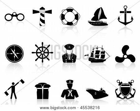 Black Sailing Icons .