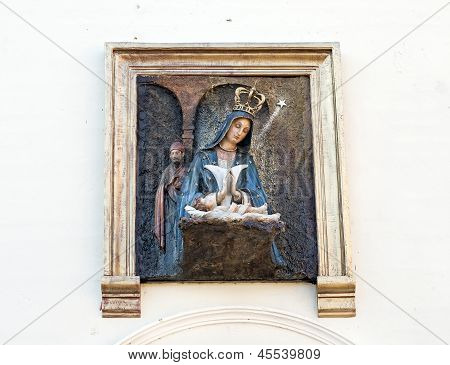 Altagracia Virgin on Church Wall