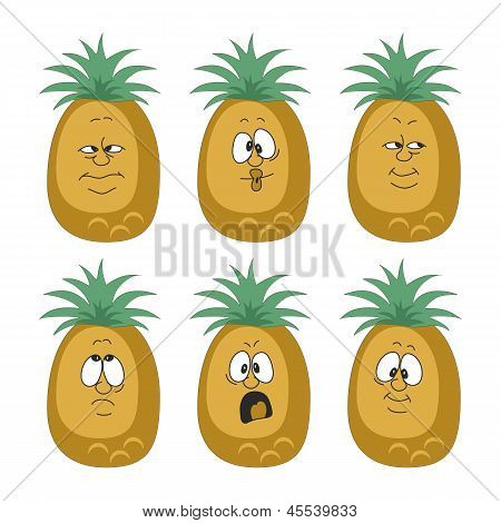 Emotion cartoon pineapple